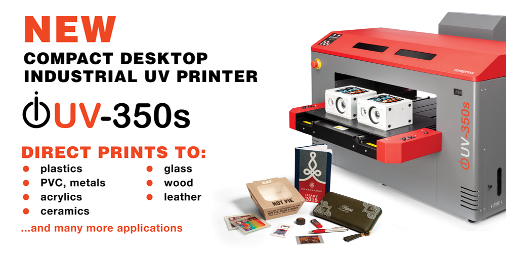 UV LED 350s Compact Desktop Industrial UV Printer